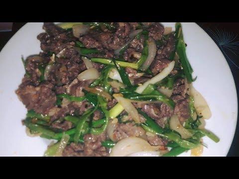 Cách làm món thịt bò xào sa tế rất mềm ngon ngọt!