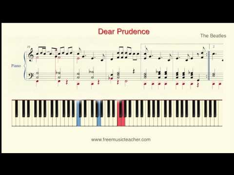 """How To Play Piano: The Beatles """"Dear Prudence"""" Piano Tutorial by Ramin Yousefi"""