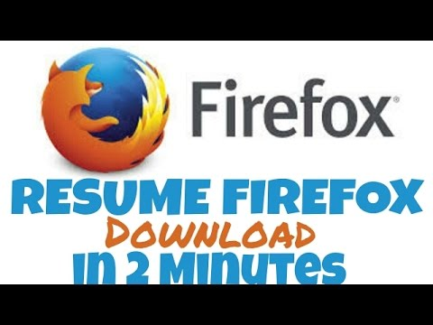 how to resume download in firefox