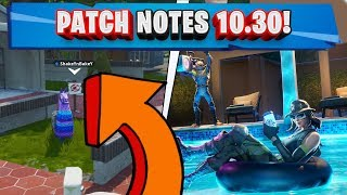 PATCH NOTES 10,30! BOSCHETTO BISUNTO E TACO PICCANTI! (TEMPORADA FORTNITE 10)