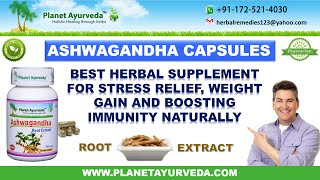 Ashwagandha Capsules for Stress Relief and Weight Gain