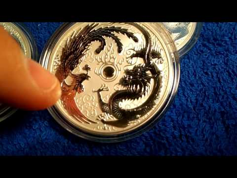 """""""Unboxing"""" of Australian Silver Dragon Phoenix and Chad Lion Coins"""