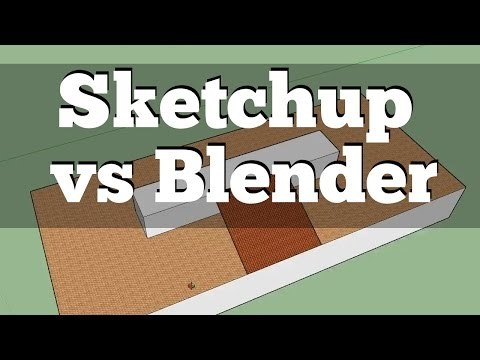 Sketchup vs Blender | First Impressions Beginner's Comparison - YouTube