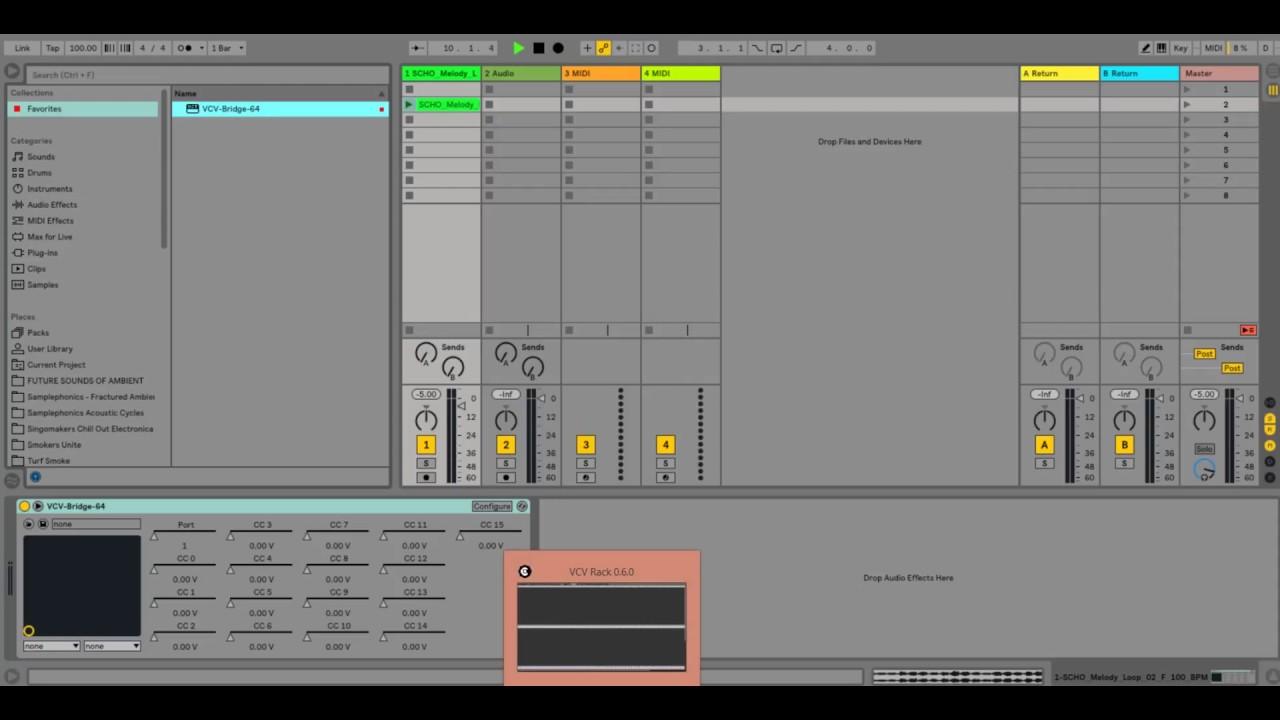 how to use VCV Rack v0 6 VST Bridge with Ableton Live 10 | 32 / 64 bit daw