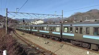 211系長野車 鳥沢発車