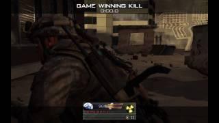 Modern Warfare 2 - Best Throwing Knife Winning Kill Montage [HD]