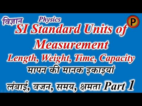 11P0401R Units of measurement - SI base units, derivatives, Length, Weight, Time & Capacity Part 1