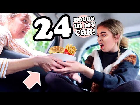 24 HOURS LIVING IN MY CAR!