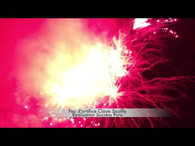 Feu d'artifice de Claye-Souilly 13 juillet 2016 Success Pyro