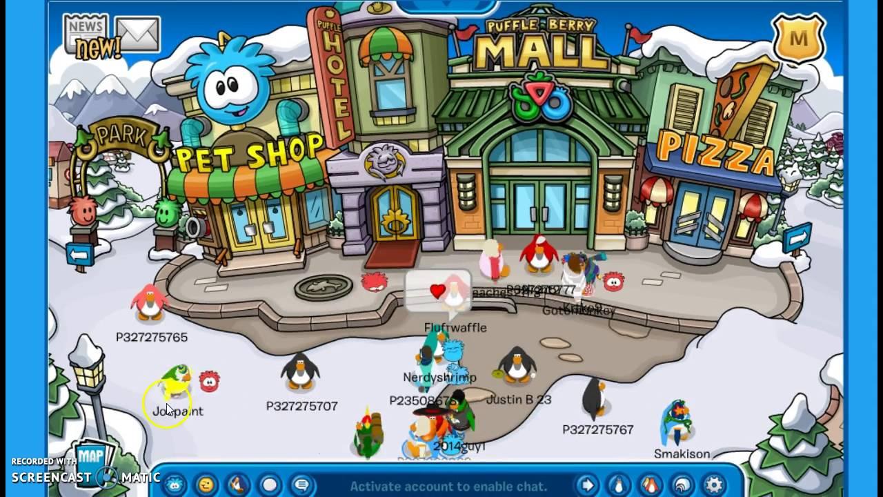 Club penguin (pizza game, ninja round, boating game) :)