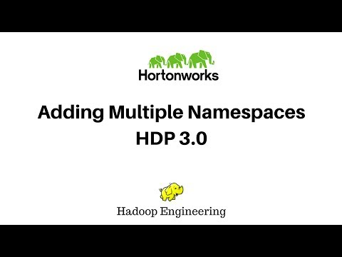 Adding multiple Namespaces to HDP Cluster