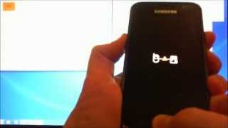 How to get a Samsung Galaxy S phone out of black screen of death.