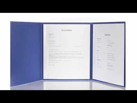 Perfekte Bewerbungsmappe Mit Deckblatt Reihenfolge 3 Teilig O 2