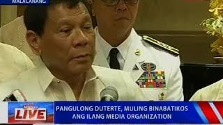 NTVL: Press conference of President Duterte