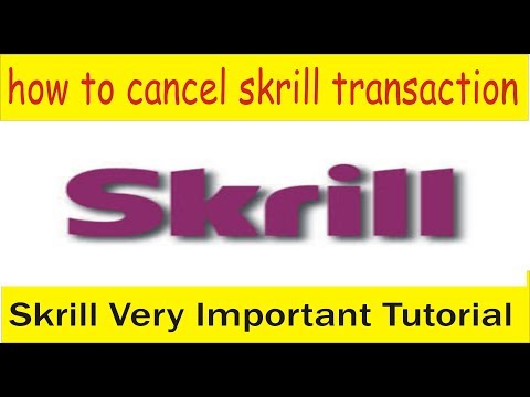 How I Can Cancel Skrill Transaction | Skrill Basics Tutorial In Hindi And Urdu By Tani Forex
