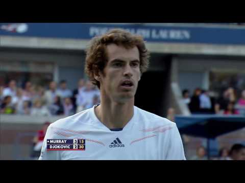Andy Murray Vs. Novak Djokovic 2012 Final 54-shot Rally!