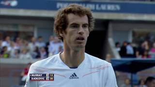Andy Murray vs. Novak Djokovic 2012 Final 54-shot rally!