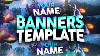 FREE FORTNITE BANNERS / BANNER TEMPLATE FOR YOUTUBE / EDITABLE BANNER - Sneyder