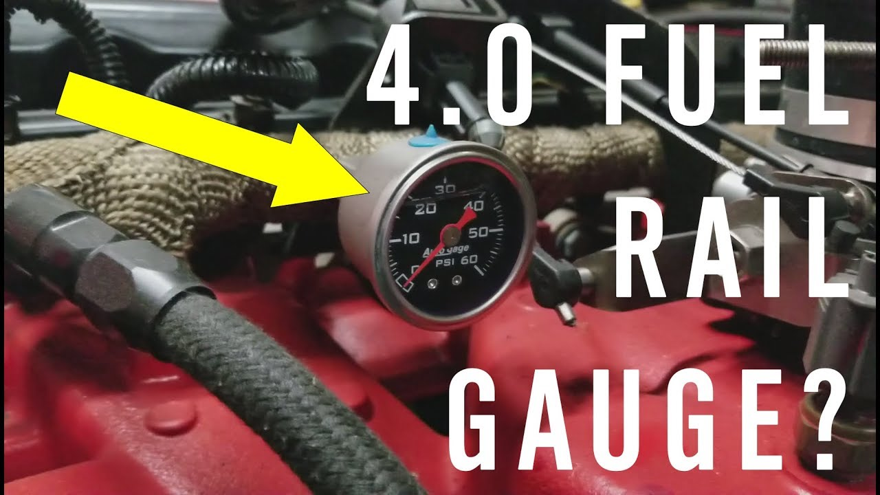 small resolution of fuel gauge how to on the jeep 4 0 fuel rail
