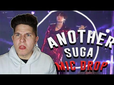 BTS Suga 'Trivia: Seesaw' LIVE PERFORMANCE FANCAM REACTION   HE MIC DROPPED AGAIN!!!!