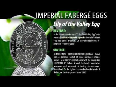 "$ 2 Silver Coin ""Lily of the Valley Egg"" Imperial Fabergé Eggs"