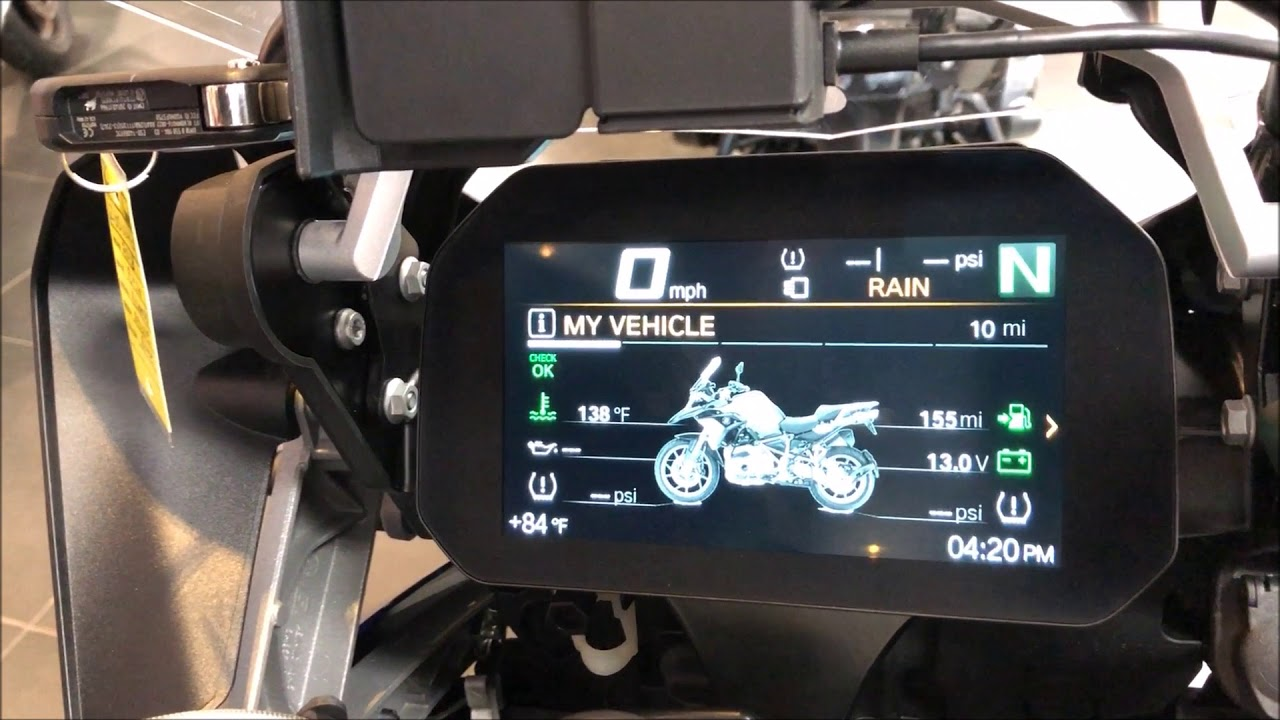 2018 BMW R 1200 GS with TFT Color Display First Look at ...