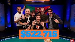 Diogo Veiga Wins More Than Half a Million at 2018 WSOP!
