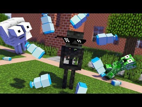 Monster School : Epic BOTTLE FLIP Challenge - Funny Minecraft Animation