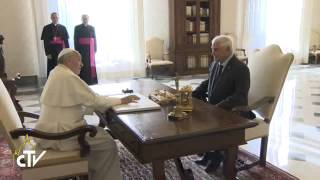 Pope Francis receives the President of Panama