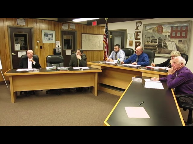 Peru Town Board Meeting  2-26-18