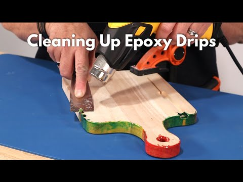 How to Clean Up Dried Epoxy Drips