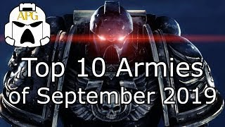 Top 10 Warhammer 40k Armies of September 2019