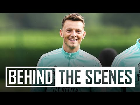 Ben White's first training session | Behind the scenes at Arsenal training centre