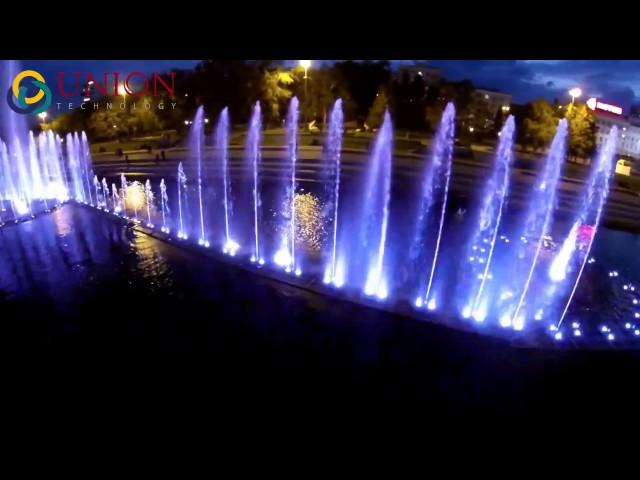Nhạc nước nghệ thuật trên dòng sông đêm