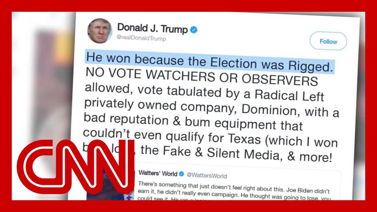 Trump acknowledges Biden's win in latest tweet