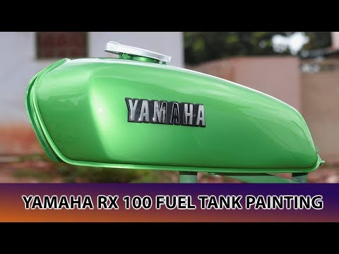 Yamaha RX-100 Fuel Tank Painting BC/CC
