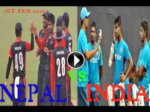 nepal vs india u19 cricket worldcup live 2016