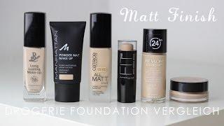 Drogerie Foundation Vergleich | günstig bis teuer | Matt Finish