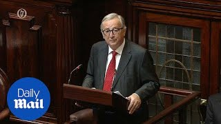 With Brexit it's Ireland first: Juncker backs Irish over border - Daily Mail