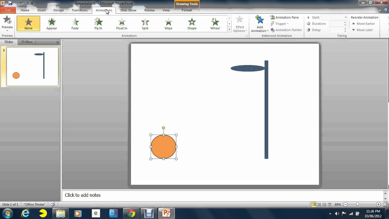 How to do a simple animation in PowerPoint