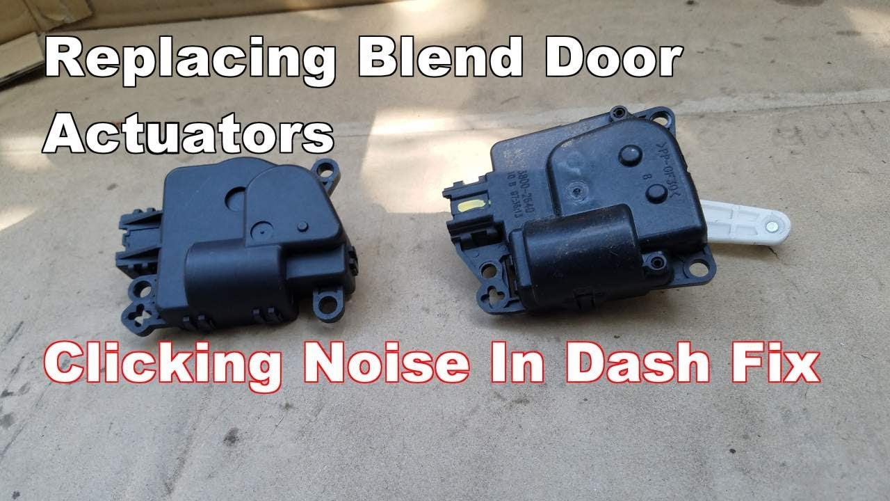 How to Replace Blend Door Actuator Dodge Avenger (Clicking Tapping Noise In  Dash Fix)