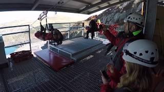 Worlds fastest zipwire Velocity 2 at Zipworld Snowdonia POV