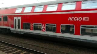 Überführungsfahrt im Magdeburger Hauptbahnhof.