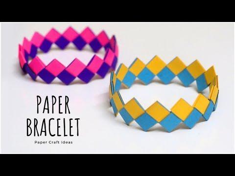 DIY Paper Bracelet   Wrist Band   Friendship Bracelets   Friendship Band   Paper Craft