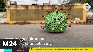 В Индии автовладелец превратил свою машину в гигантский коронавирус - Москва 24