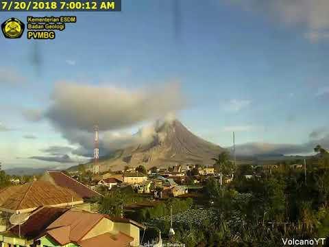 20/7/2018 WITA - Mt Sinabung TimeLapse