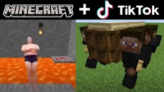 MINECRAFT AND TIK TOK COMPILATION FUNNY MOMENTS #02