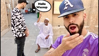 ARAB MAN GOES CRAZY ON US FOR SPEAKING ENGLISH!!!