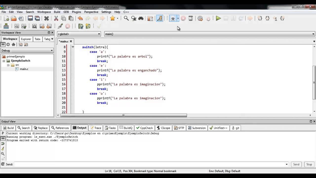 04 Programacion En C La Estructura Condicional Switch En C
