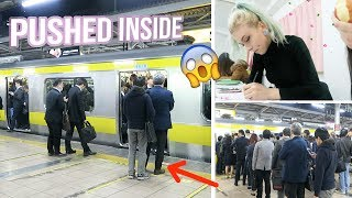 First day of Japanese School  INSANE PACKED TRAIN